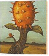 Horned Melon Wood Print