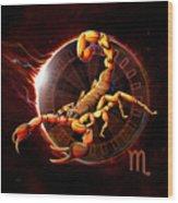 Horoscope Signs-scorpio Wood Print