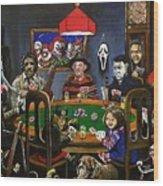 Horror Card Game Wood Print