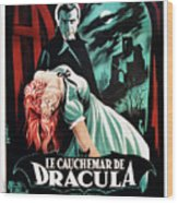 Horror Of Dracula Aka Le Cauchemar De Wood Print by Everett