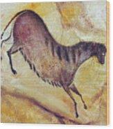 Horse A La Altamira Wood Print