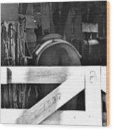 Horse And Tack Wood Print