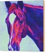 Horse Art Horse Portrait Maduro Psychedelic Wood Print