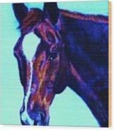 Horse Art Horse Portrait Maduro Striking Purple Wood Print