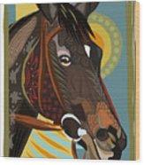 Horse Attitude Wood Print