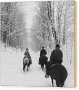 Horse Back Riding Wood Print