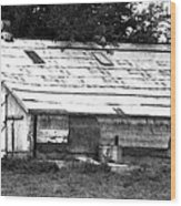 Horse Barn Now Wood Print