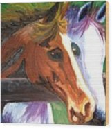 Horse Bff Wood Print