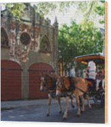 Horse Carriage At Kings Street Wood Print