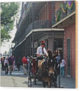 Horse Carriage Ride Wood Print