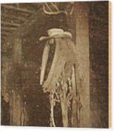 Horse Collar - Hat Wood Print