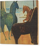 Horse Collection Wood Print
