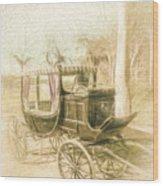 Horse Drawn Funeral Cart  Wood Print