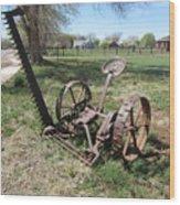 Horse Drawn Sickle Mower Wood Print