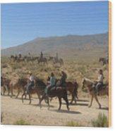 Horse Drive From June Lake To Bishop California Wood Print