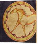 Horse Drum Wood Print
