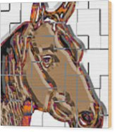 Horse Faces Of Life 4 Wood Print