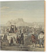 Horse Fair On Bruntsfield Links, Edinburgh Wood Print