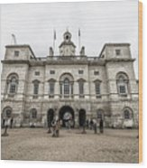 Horse Guards Wood Print