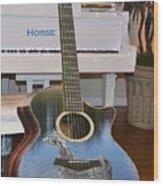 Horse Guitar Wood Print