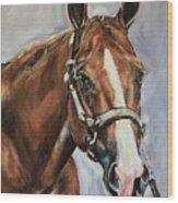 Horse Head Portrait Wood Print