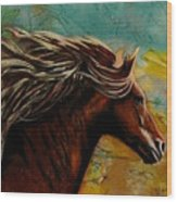 Horse In Heaven Wood Print