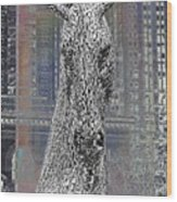 Horse In The City Wood Print