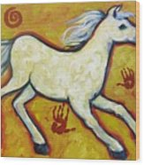 Horse Indian Horse Wood Print