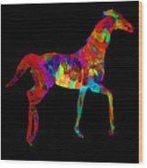 Horse Wood Print