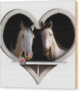 Horse Lovers Wood Print