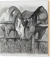 Horse Lovers Wood Print