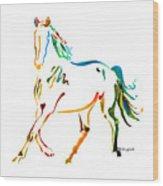 Horse Of Many Colors - 2 Wood Print