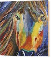 Horse One Wood Print
