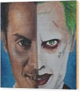 Moriarty And The Joker Wood Print