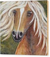 Horse Painting Blondie Wood Print