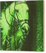Horse Painting Jumper No Faults Deep Greens Wood Print