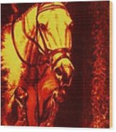 Horse Painting Jumper No Faults Reds Wood Print