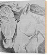 Horse Pair Wood Print