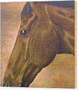 horse portraint PRINCETON pastel colors Wood Print