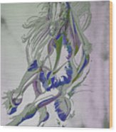 Horse Portrait 02v Wood Print