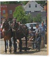 Horse Pull H Wood Print