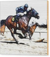 Horse Racing Dreams 1 Wood Print