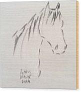 Horse-rest Wood Print