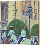 Horse Riding 2 Wood Print