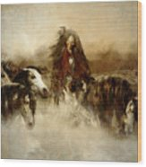 Horse Spirit Guides Wood Print