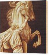 Horse Statue Wood Print