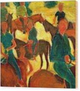 Horseback Riders Wood Print