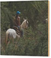 Horseback Riding Kauai Trail Wood Print