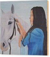 Horselady Wood Print