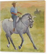 Horseman 3 Wood Print